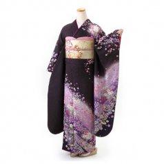 振袖 フルセット 古典 Lサイズ 紫系 (中古 リユース 美品) 50269