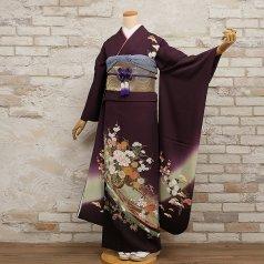 振袖 フルセット 古典柄 Lサイズ 紫系 (中古 リユース 美品) 50999