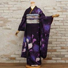 振袖 フルセット 花柄 Lサイズ 青・紺系 (中古 リユース 美品) 26270