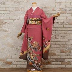 振袖 フルセット 古典柄 Mサイズ ピンク・オレンジ系 (中古 リユース 美品) 40999