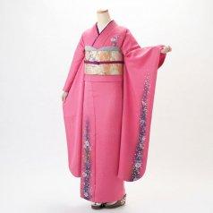 振袖 フルセット 花柄 Lサイズ ピンク・オレンジ系 (中古 リユース 美品) 46999