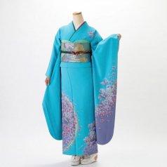 振袖 フルセット 花柄 Lサイズ 青・紺系 (中古 リユース 美品) 26999