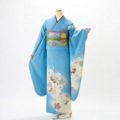 振袖 フルセット 花柄 Mサイズ 青・紺系 (中古 リユース 美品) 26999