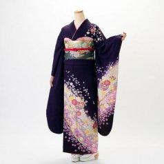 振袖 フルセット 毬柄 Mサイズ 紫系 (中古 リユース 美品) 54011