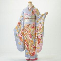 振袖 フルセット 花柄 Lサイズ ピンク・オレンジ系 (中古 リユース 美品) 46954