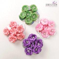 髪飾り ヘアアクセ お花 6点セット ピンク 青 緑 コサージュ