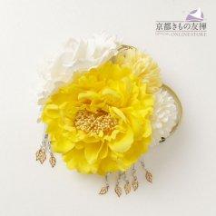髪飾り ヘアアクセ お花 黄色 コーム