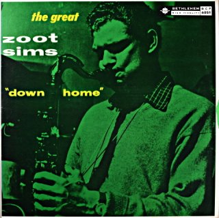 """""""DOWN HOME"""" THE GREAT ZOOT SIMS US盤"""