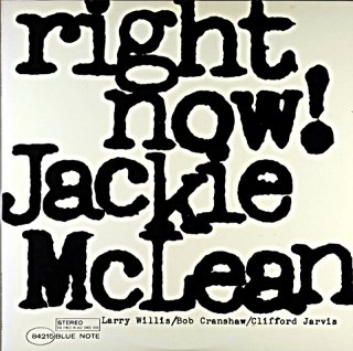 RIGHT NOW! JACKIE McLEAN