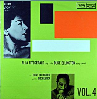 ELLA FITZGERALD SING THE DUKE ELLINGTON SONG BOOK VOL.4