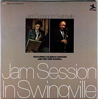 JAM SESSION IN SWINGVILLE FEATURNG COLMAN HAWKINS US盤 2枚組