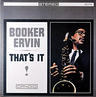BOOKER ERVIN THAT'S IT ! Itarian盤