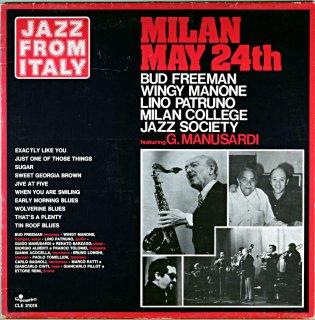 BUD FREEMAN MILAN MAY 24TH Itarian盤