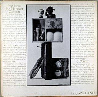 FREE FORM JOE HARRIOTT QUINTET Original盤