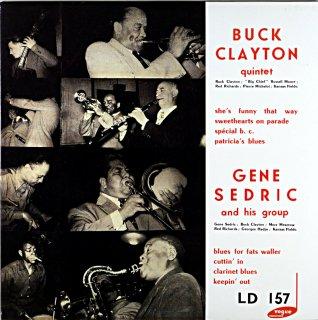 BUCK CLAYTON QUINTET / GENE SEDRIC AND HIS GROUP 10inch盤