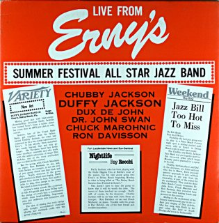 CHUBBY JACKSON LIVE FROM ERNY'S SUMMER FESTIVAL Us盤