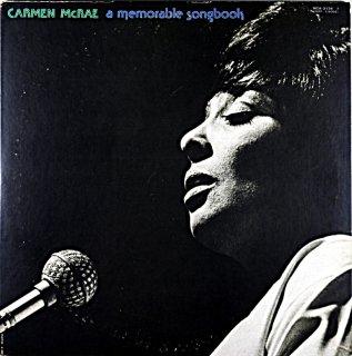 CARMEN McRAE A MEMORABLE SONGBOOK 2枚組