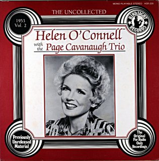 HELEN O'CONNELL WITH THE PAGE CAVANAUGH TRIO Us盤
