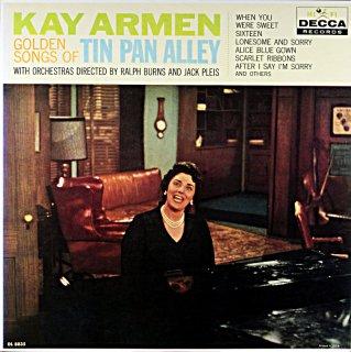 KAY ARMEN GOLDEN SONGS OF TIN PAN ALLEY