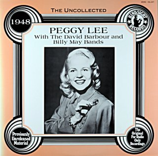 PEGGY LEE WITH THE DAVID BARBOUR AND BILL MAY BANDS