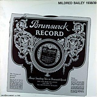 MILDRED BAILEY 1938−39 Swedish盤