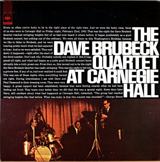 THE DAVE BRUBECK QUARTET AT CARNEGIE HALL 2枚組
