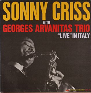 SONNY CRISS WITH GEORGES ARGANITAS TRIO (Fresh sound)盤