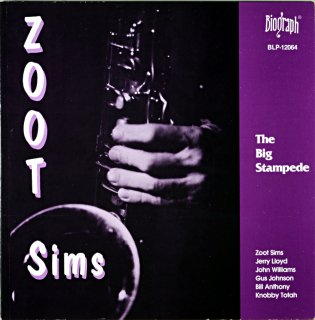ZOOT SIMS THE BIG STAMPEDE Us盤