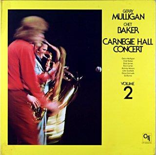 GERRY MULLIGAN CHET BAKER CARNEGIE HOLL CONCERT 2 Original盤