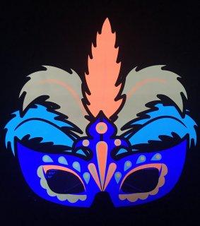ブラックライトで光る 3Dハロウィンマスクメガネ 舞踏会