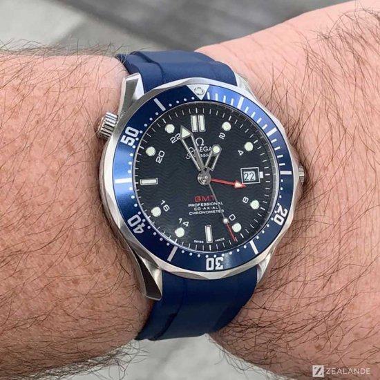 ラバーベルト:オメガシーマスター OMEGA Seamaster Diver 300m GMT用