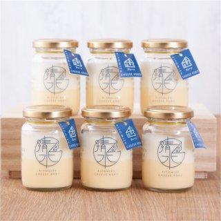 清水チーズ工房 ボトルチーズケーキ6個セット(プレーン)