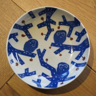 倉敷意匠計画室 KATA KATA  印判手なます皿(ふくろう)