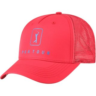 PGA Tour Top of the World One-Color Logo Adjustable キャップ - Red