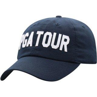 PGA Tour Top of the World Wordmark Adjustable キャップ - Navy
