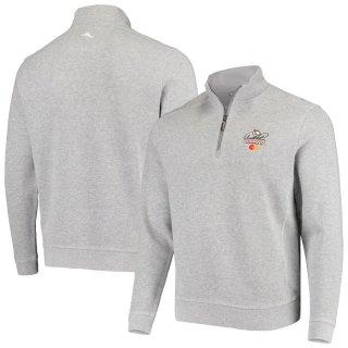 アーノルド パーマー Invitational Tommy Bahama Nassau Half-Zip Pullover スウェットシャツ - Heathered Gray