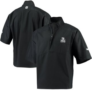2020 PGAチャンピオンシップ FootJoy Hydrolite Half-Zip Rain シャツ - Black