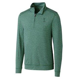 LPGA Cutter & Buck Shoreline Half-Zip Pullover ジャケット - Heather Green