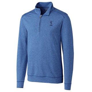 LPGA Cutter & Buck Shoreline Half-Zip Pullover ジャケット - Heather Royal