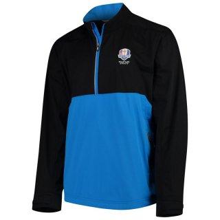 2020 ライダーカップ Cutter & Buck Fairway Long Sleeve Half-Zip Pullover ジャケット - Black/Blue