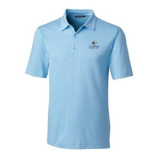 Men's 2020 USアマチュア Cutter & Buck Light Blue Forge Pencil Stripe ポロシャツ