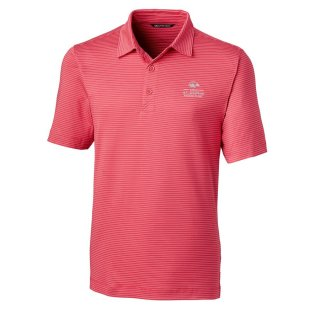 Men's 2020 USアマチュア Cutter & Buck Pink Forge Pencil Stripe ポロシャツ