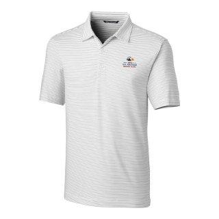 Men's 2020 USアマチュア Cutter & Buck White Forge Pencil Stripe ポロシャツ