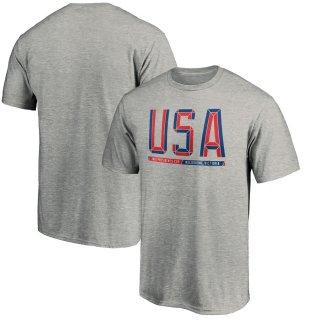 2019 プレジデンツカップ Fanatics Branded USA T-シャツ - Heathered Gray