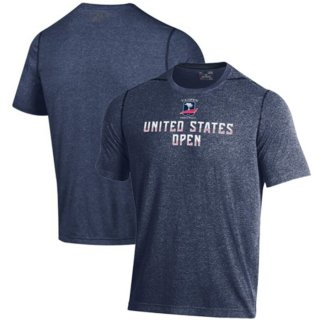 Men's 2019 U.S. Open Under Armour Navy Stripe Graphic Performance T-シャツ