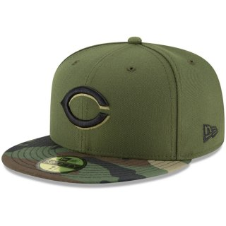Cincinnati Olives New Era Home Authentic Collection On-Field 59FIFTY Fitted キャップ - Olive