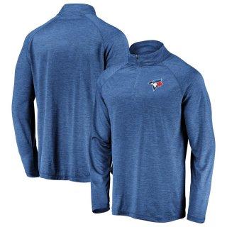 トロント・ブルージェイズ Iconic Striated Primary Logo Raglan Quarter-Zip ジャケット