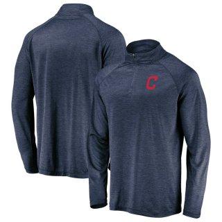 クリーブランド・インディアンス Iconic Striated Primary Logo Raglan Quarter-Zip ジャケット