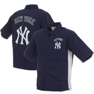 ニューヨーク・ヤンキース JH Design Full-Snap Pit シャツ ジャケット - Navy