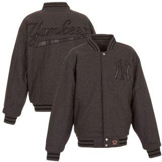 ニューヨーク・ヤンキース JH Design Team Logo Wool Full-Snap ジャケット - Charcoal